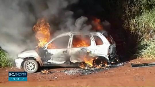 MP denuncia homem por agredir ex e atear fogo em carro com criança, em Turvo