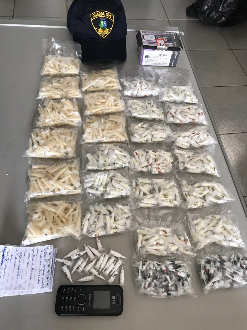 Guarda Civil apreende mais de 500 pinos de cocaína em Laranjal Paulista