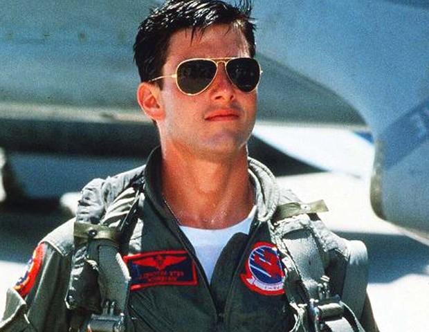 Tom Cruise como o piloto Maverick em 'Top Gun' (Foto: reprodução)