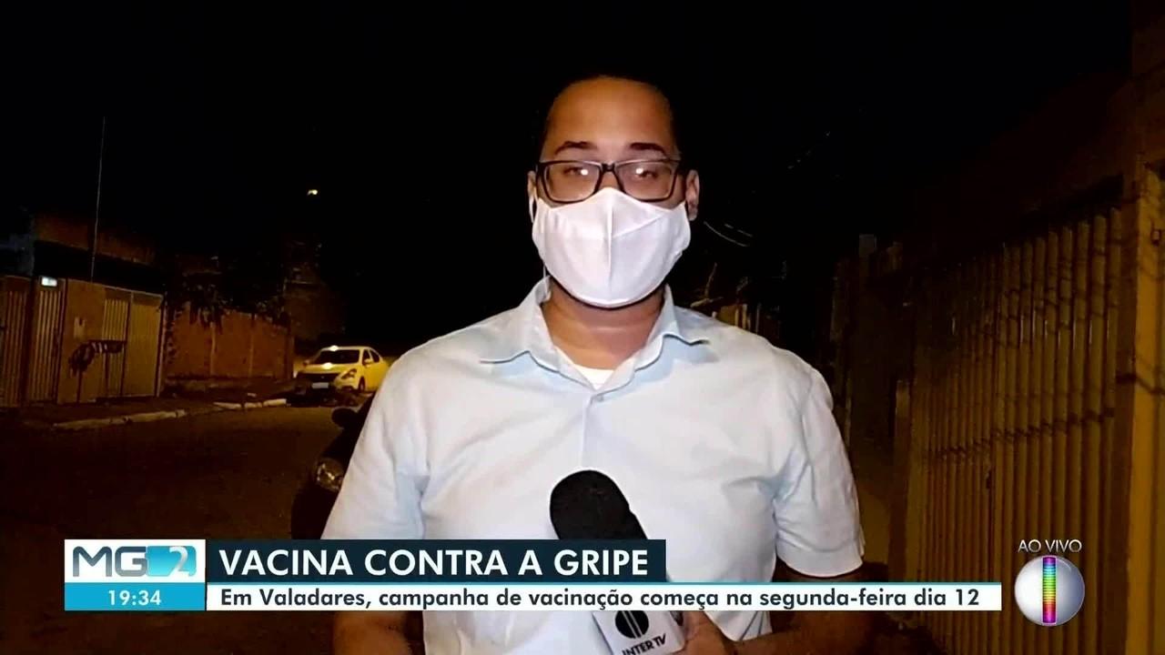 Campanha de vacinação contra a gripe começa nesta segunda (12) em Governador Valadares