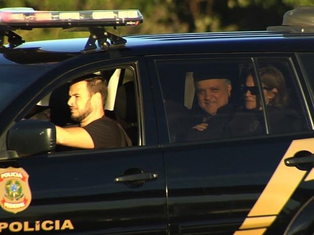 Carlos Cachoeira é preso em Goiânia, Goiás (Foto: Reprodução/TV Anhanguera)