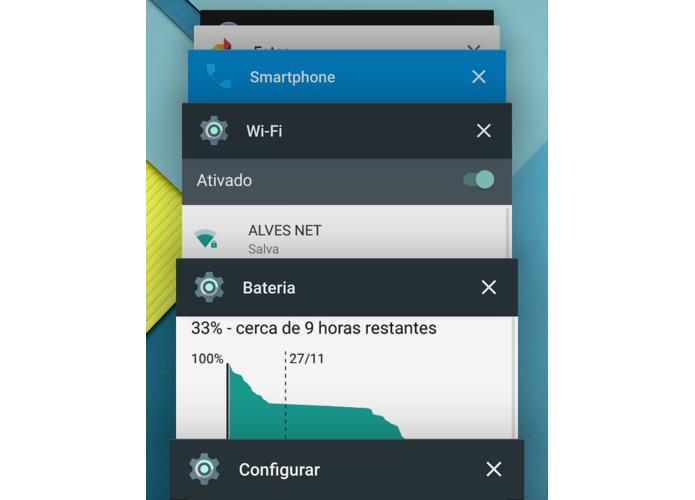 Apps abertos permanecem disponíveis mesmo após reset (Foto: Reprodução/Paulo Alves)