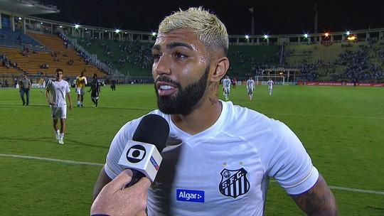 """Gabriel comemora fim de tabu: """"Fazia muito tempo que o Santos não ganhava em estreia"""""""