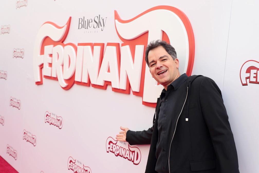 Carlos Saldanha na estreia de 'O touro Ferdinando' (Foto: Divulgação)