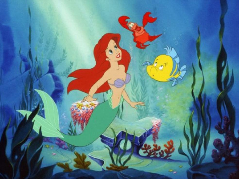 Cena da animação 'A pequena sereia', da Disney — Foto: Divulgação/Walt Disney Studios