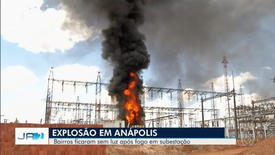 Explosão em subestação da Enel em Anápolis deixa vários bairros sem luz