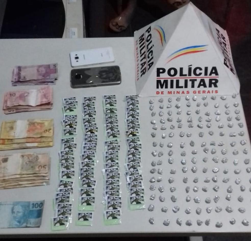 Mãe filha são presas por tráfico de drogas em São Lourenço (MG) — Foto: Polícia Militar