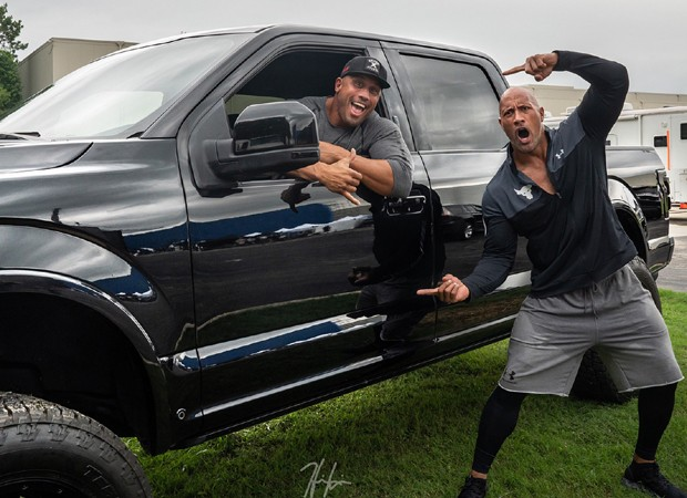 Tanoai Reed e Dwayne Johnson (Foto: Reprodução/Instagram)