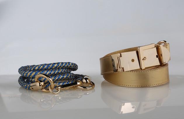 Cinto dourado da Folic (R$179,70) e de corda azul com dourado da Adorable (R$120) (Foto: Paula Giolito)
