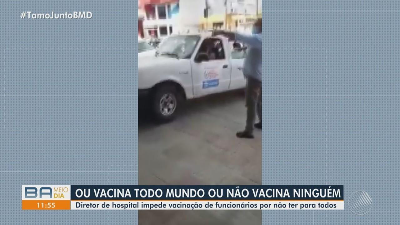 Diretor impede vacinação de equipes que atuam no único hospital de Covid-19 em Itaberaba