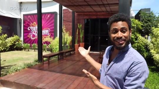 Ícaro Silva revisita casa do 'Show dos Famosos' e revela novidades