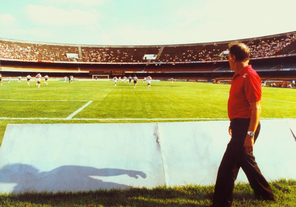 Telê Santana no Morumbi, onde seu legado segue vivo até hoje — Foto: Maurilo Clareto/Estadão Conteúdo