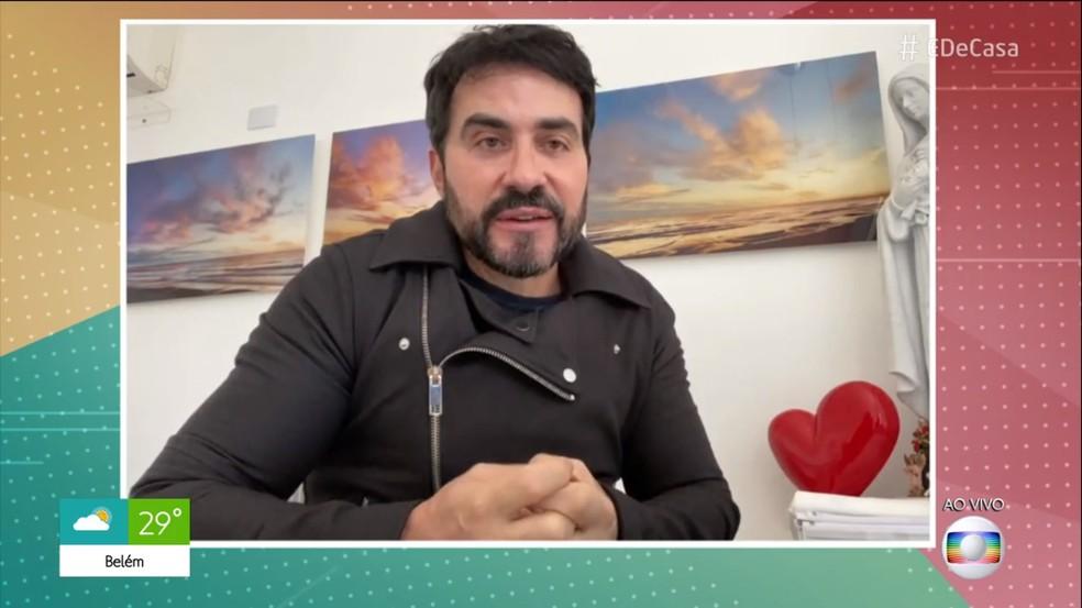 Padre Fabio de Melo deixa mensagem positiva sobre a quarentena — Foto: TV Globo