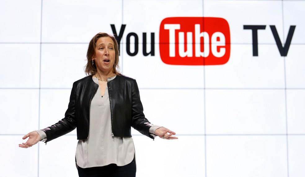 Susan Wojick apresenta o Youtube TV (Foto: Reed Saxon/AP)