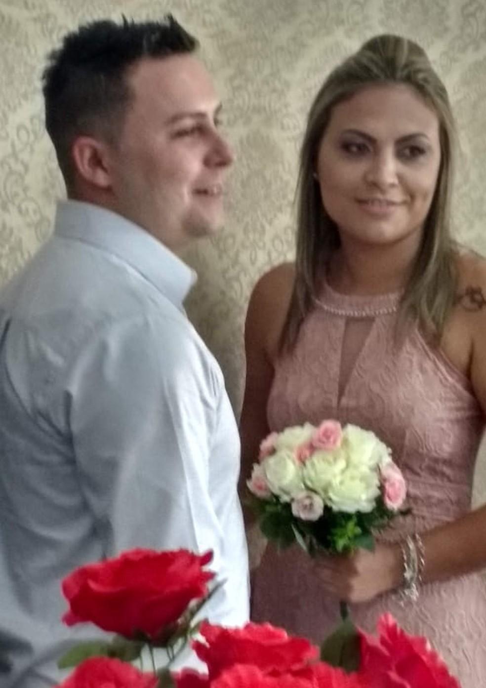 Vítima e ex-marido, apontado pelas investigações como mandante de tentativa de feminicídio — Foto: Arquivo Pessoal