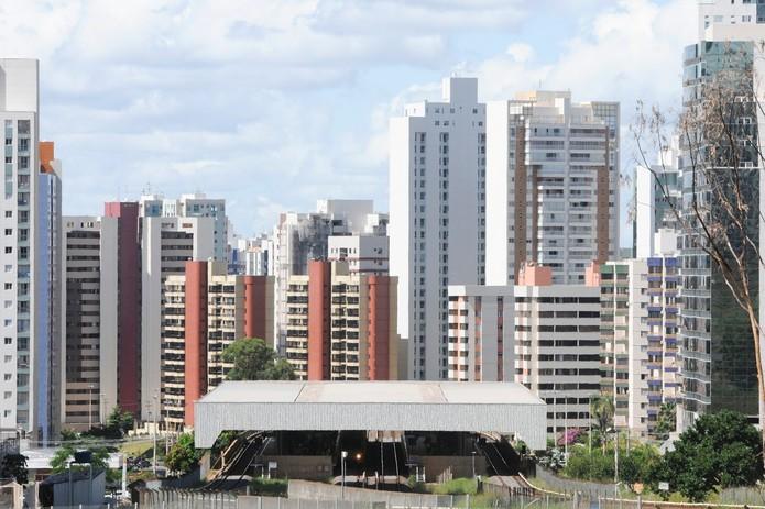 Linha do horizonte em Águas Claras, no DF — Foto: André Borges/Agência Brasília