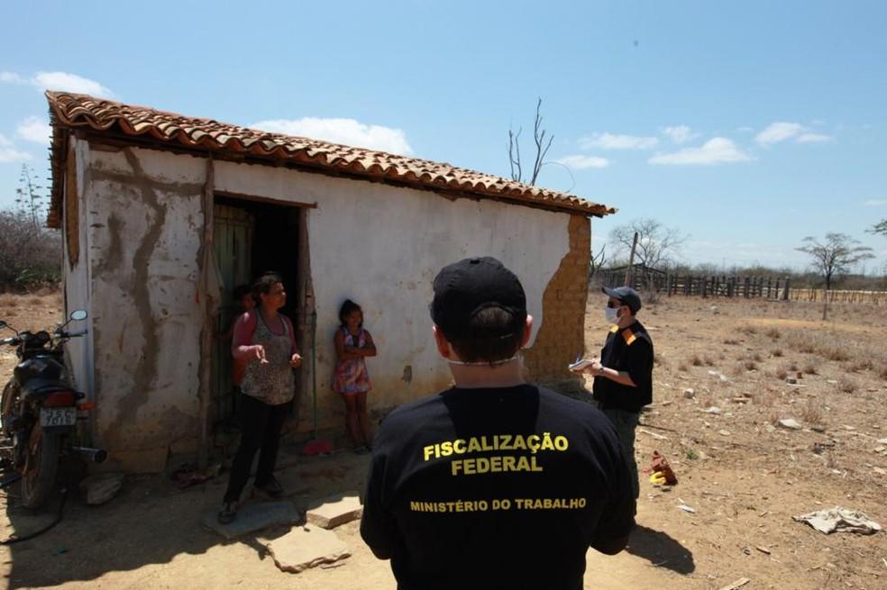 Mais de 30 trabalhadores são achados em condições análogas à escravidão em produção de sisal na Bahia — Foto: Divulgação/Subsecretaria de Inspeção do Trabalho