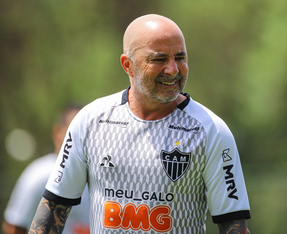 Jorge Sampaoli, técnico do Atlético-MG — Foto: Pedro Souza/Atlético-MG