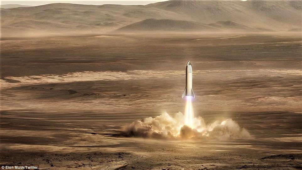 Base de lançamento do BFR, espaçonave da SpaceX (Foto: Reprodução/Twitter Elon Musk)