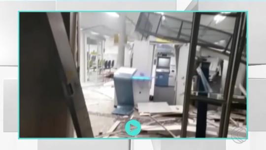 Ladrões explodem agência bancária em Andrelândia, MG
