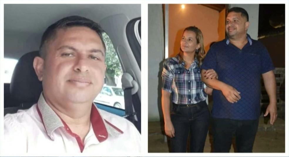 Suspeito Aderlon de Souza e a vítima Dayse Alves — Foto: Reprodução/TV Paraíba