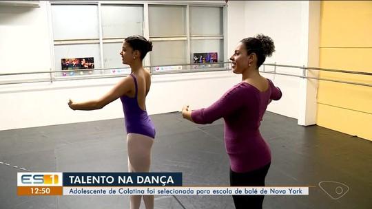 Jovem bailarina do ES é selecionada para curso NY