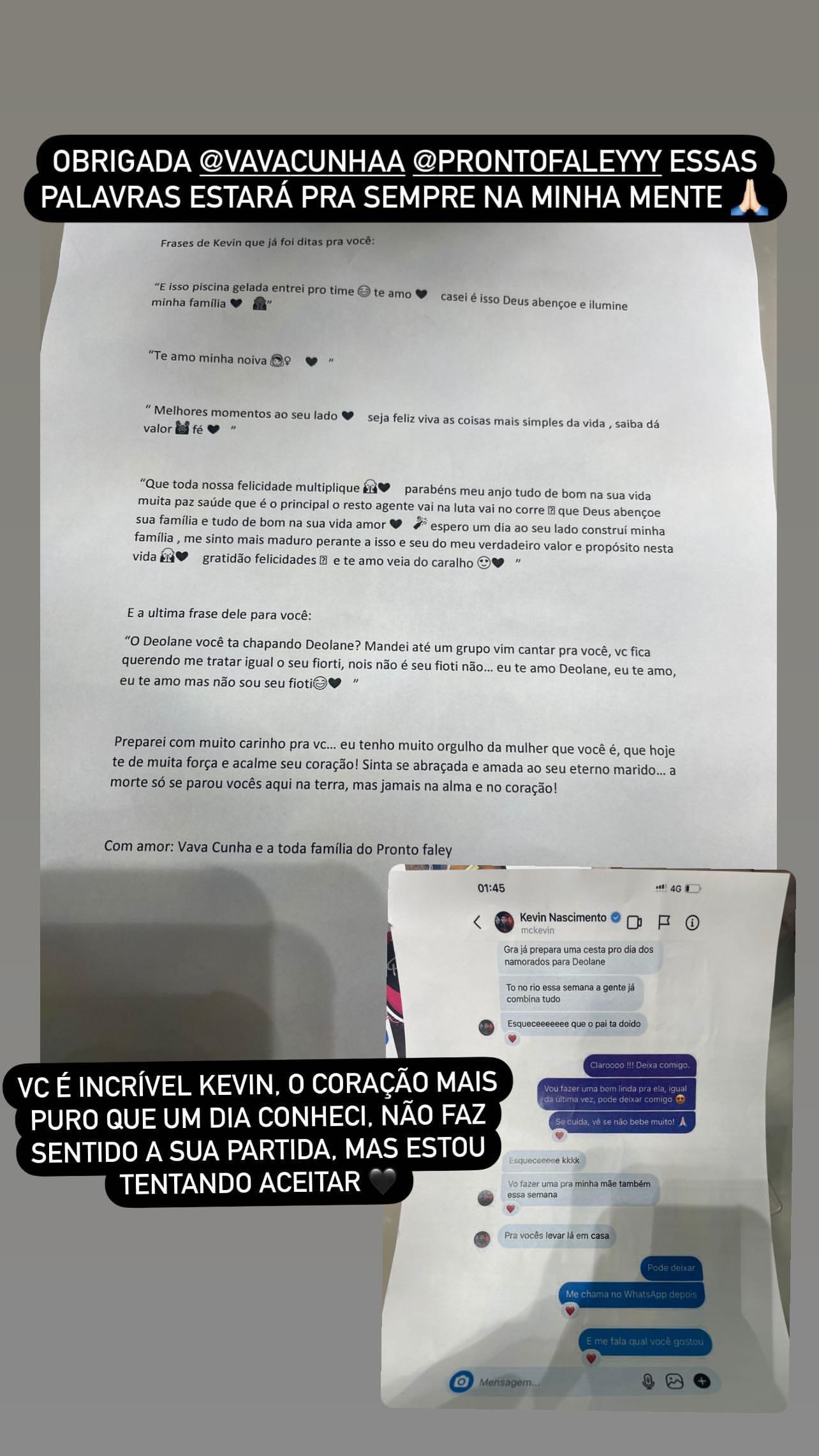 MC Kevin emociona Deolane Bezerra com surpresa do Dia dos Namorados planejada antes de sua morte (Foto: Reprodução/Instagram)