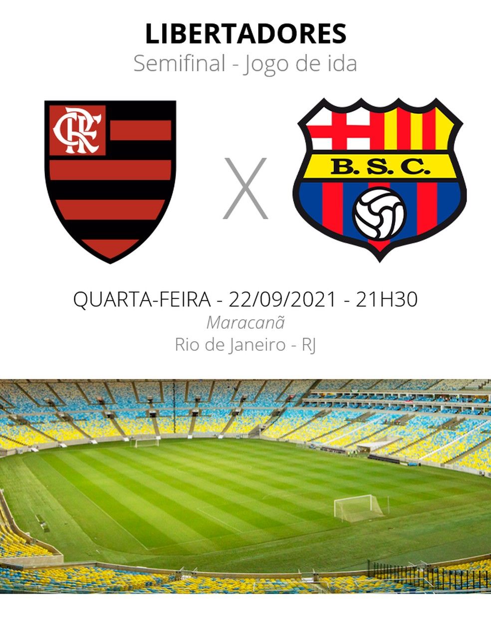 Flamengo x Barcelona - semifinal da Libertadores — Foto: ge