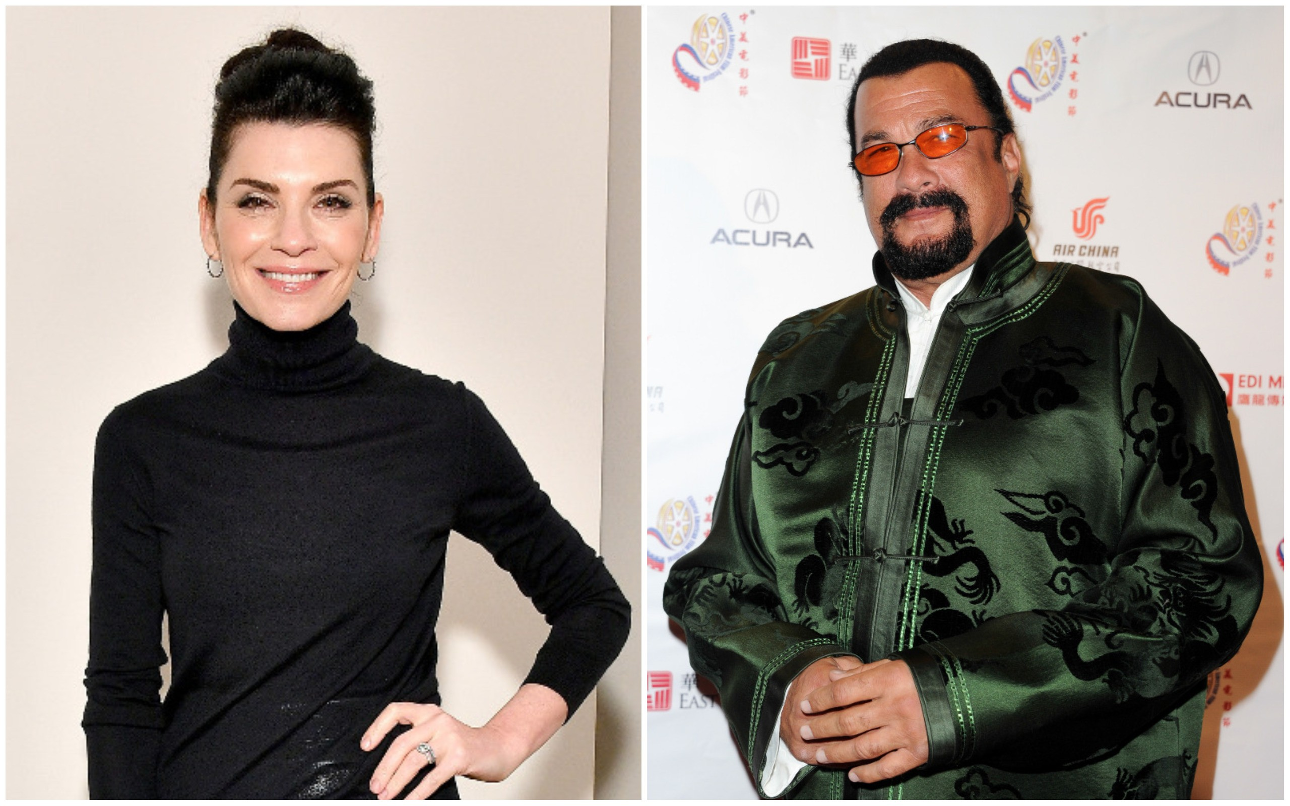 Julianna Margulies e Steven Seagal (Foto: Getty Images)