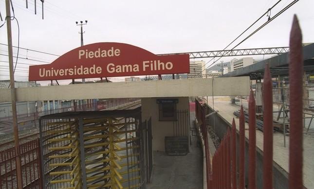 Estação ferroviária de Piedade, do ramal Deodoro, chegou a ter o nome da UGF