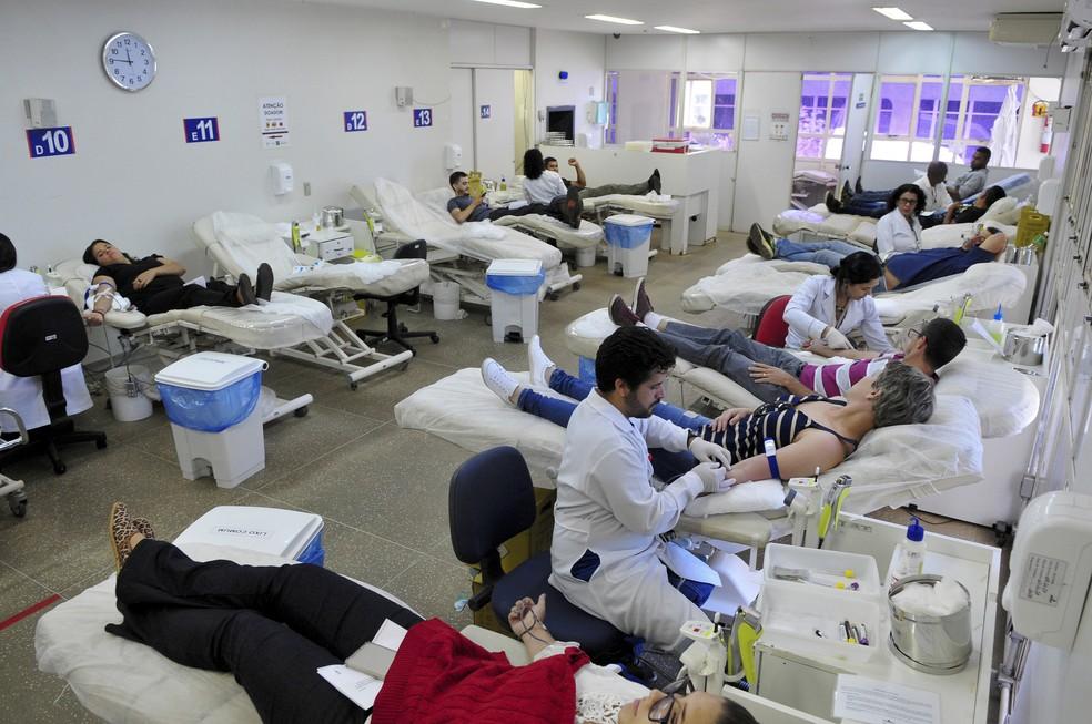 Doação de sangue na Fundação Hemocentro de Brasília — Foto: Gabriel Jabur/Agência Brasília