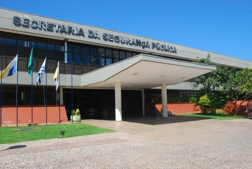 Sede da SSP em Palmas — Foto: Governo do Estado/Divulgação