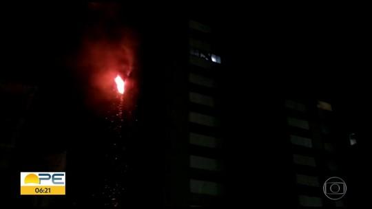 Incêndio atinge apartamento em edifício na orla de Boa Viagem