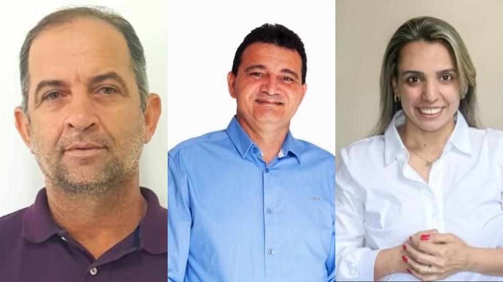 Antônio José (Republicanos), Claudio Boa Fruta (DEM) e Fernanda Milanese (Solidariedade) concorrem a Eleição de Boa Esperança, ES  — Foto: Reprodução/ Redes sociais