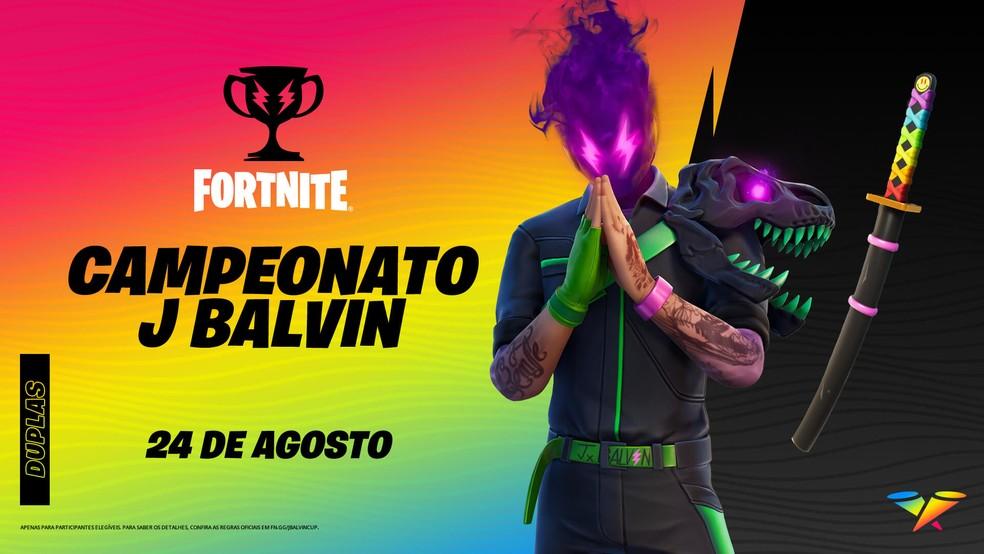 Campeonato J Balvin no Fortnite acontece nesta terça-feira (24) — Foto: Divulgação/Epic Games