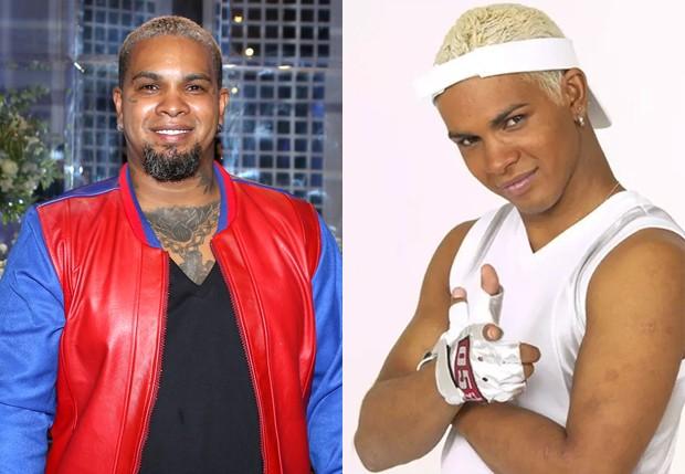 Rodriguinho em 2018 e nos anos 90 (Foto: Thiago Duran/AgNews e Reprodução)