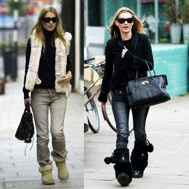 Kate Moss e suas Ugg boots em 2003 (Foto: Getty Images)
