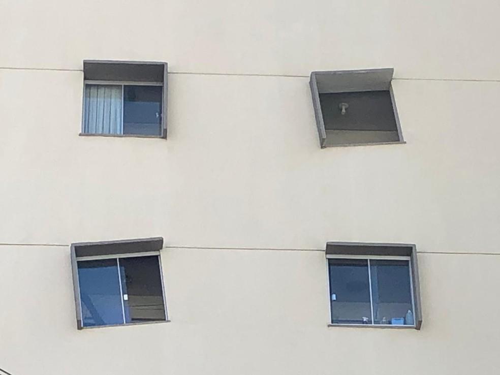 16 janelas do edíficio foram construídas de forma incomum — Foto: Rildo Herrera/RPC