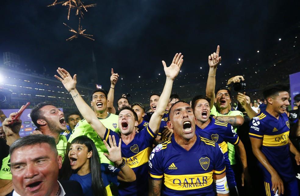 Boca Juniors foi o campeão argentino em 2020 — Foto: Marcos Brindicci/Getty Images