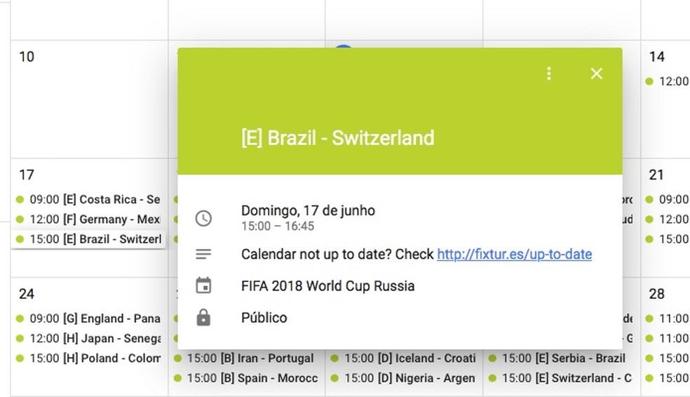 Saiba como adicionar os horários dos jogos ao Google Agenda (Foto: Reprodução/Helito Bijora)