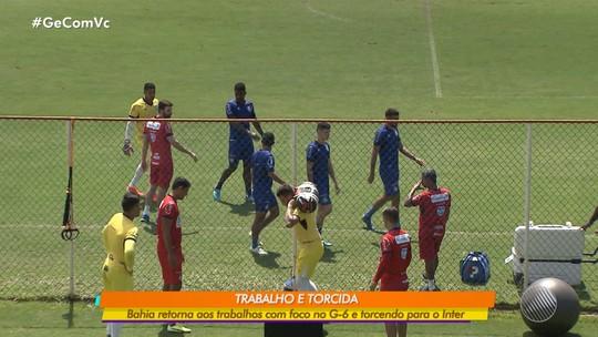 Jogadores titulares do Bahia voltam a treinar nesta quarta-feira (18) com foco no G-6