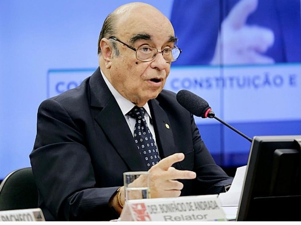 Bonifácio Andrada durante atividades parlamentares — Foto: Redes Sociais/Reprodução