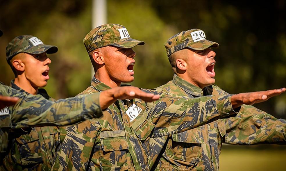 Serviço Militar no Exército Brasileiro  — Foto: Ministério da Defesa