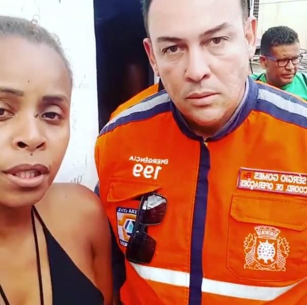 Defesa Civil do Rio de Janeiro chega ao Vidigal (Foto: Reprodução/Instagram)