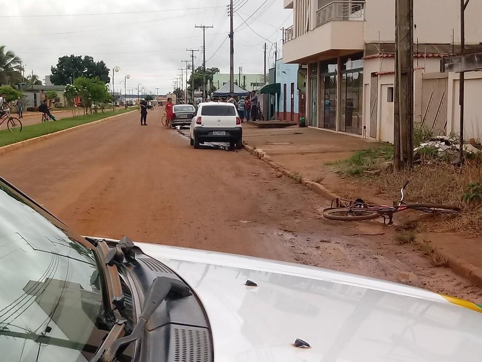 Cicilista estaria na contramão, segundo o motorista (Foto: Claudemir Bazan/Arquivo pessoal)