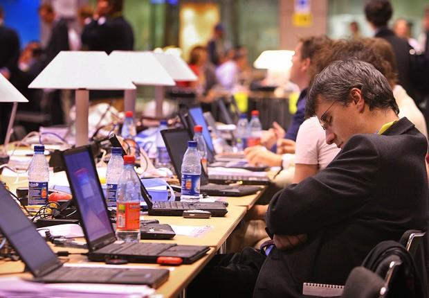 sono; funcionario; trabalho; jornalista (Foto: Peter Macdiarmid/Getty Images)