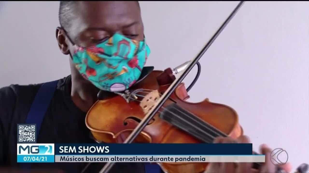 Músicos buscam alternativas para superar a crise por conta da pandemia em Uberlândia