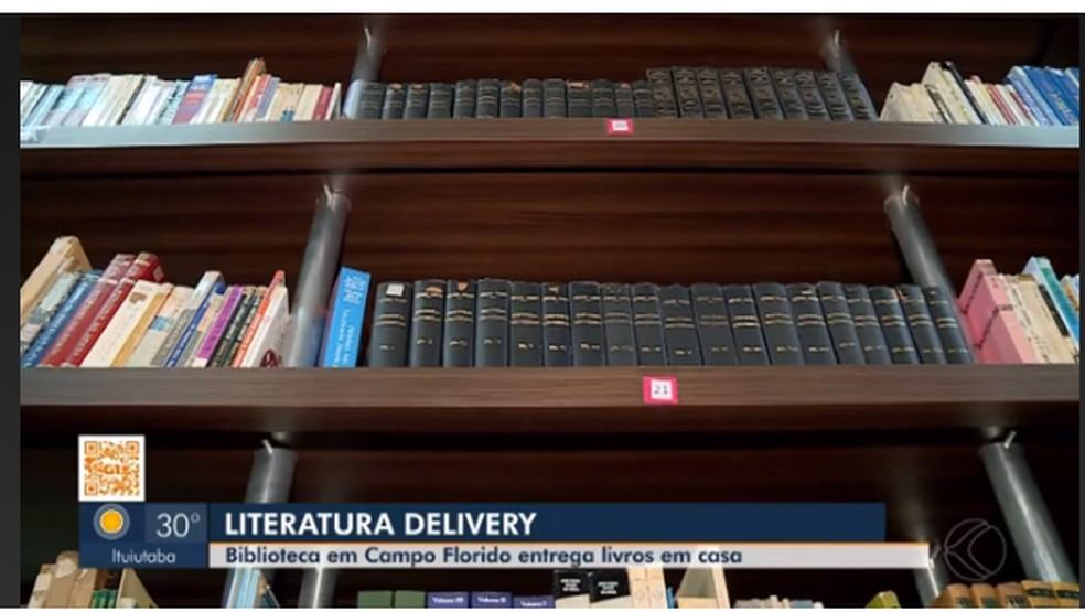 Literatura Delivery/Campo Florido/ Triangulo Mineiro  — Foto: MG TV 1º Edição/ Uberaba