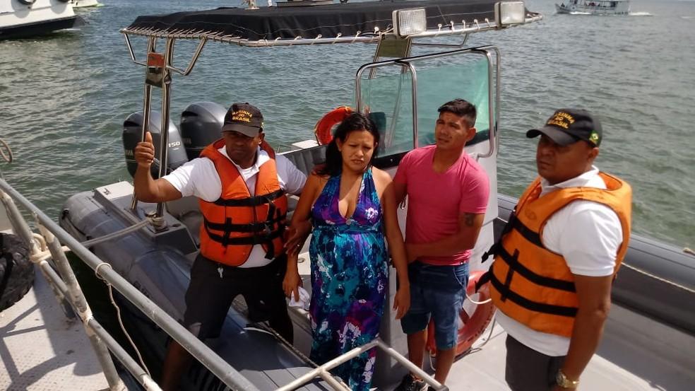 -  O chamado de Hilda Oliveira Rego, de 25 anos, foi recebido por volta as 10h  Foto: Divulgação/Capitania Fluvial de Santarém