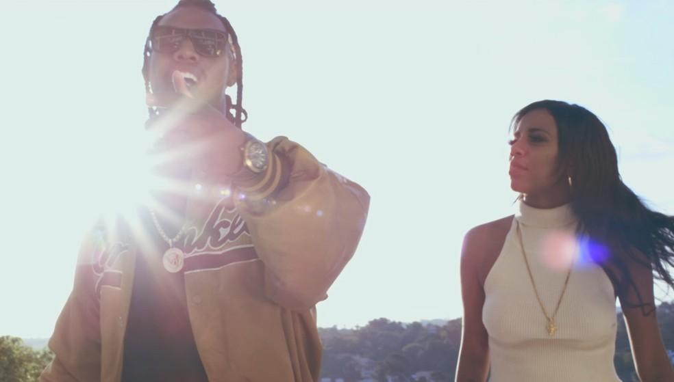 MC Kekel e MC Rita no clipe de 'Amor de verdade' (Foto: Divulgação)
